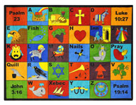 Joy Carpets Bible Phonics Kids Rug