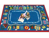 Joy Carpets Bible Train Kids Rug