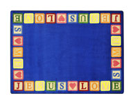 Joy Carpets Blocks Of Love Kids Rug