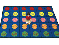 Joy Carpets Circles & Symbols Kids Rug