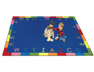 Joy Carpets Rainbow Alphabet Kids Rug