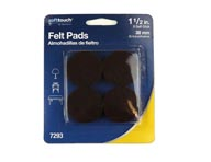 "1.5"" Brown Felt Furniture Pads"