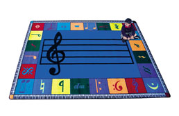 Joy Carpets Note Worthy Kids Rug