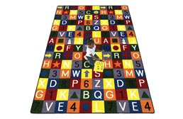 Joy Carpet Edu-Squares Kids Rug