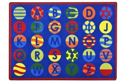 Joy Carpets Alphabet Patterns Kids Rug