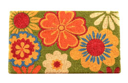 Summer Flowers Coir Doormat