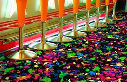 Joy Carpets Neon Lights Carpet - Splatter Paint