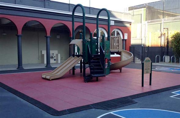 Jamboree playground tiles rubber safety surface for Cork playground flooring