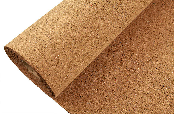 Floor underlayment foam cork rubber sound for Cork playground flooring