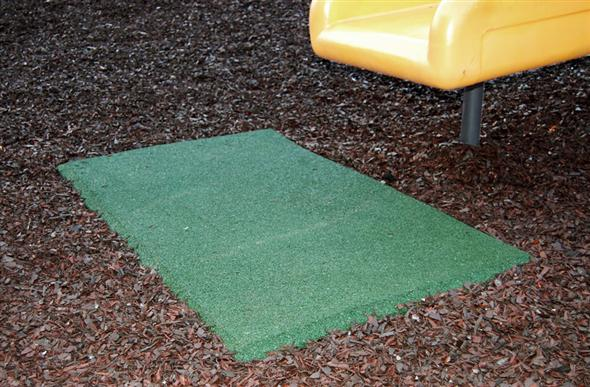 Playground swing mats rubber safefy mats for swings and for Cork playground flooring