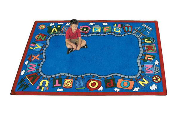 Joy Carpets Reading Train Kids Rug