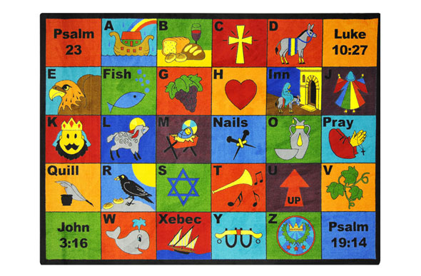 Joy Carpets Bible Phonics Kids Rug