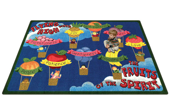 Joy Carpets Fruits Of The Spirit Kids Rug