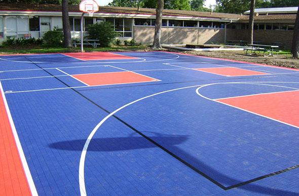 Court Flooring Commercial Grade Modular Gym Floor Tiles