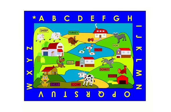 Farm Village Kids Rug