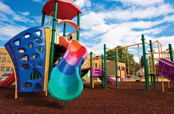 Playground rubber mulch bulk discount mulch for Cork playground flooring