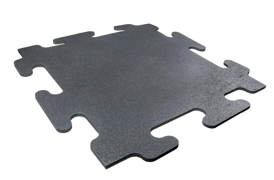 12 Inch Mega Lock Rubber Tiles Commercial Grade Gym Flooring