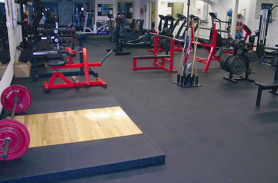 Inch rubber gym tiles interlocking floor