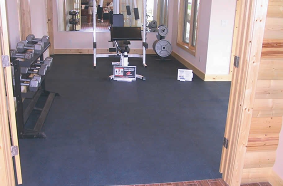 Inch rubber gym tiles commercial weight room flooring