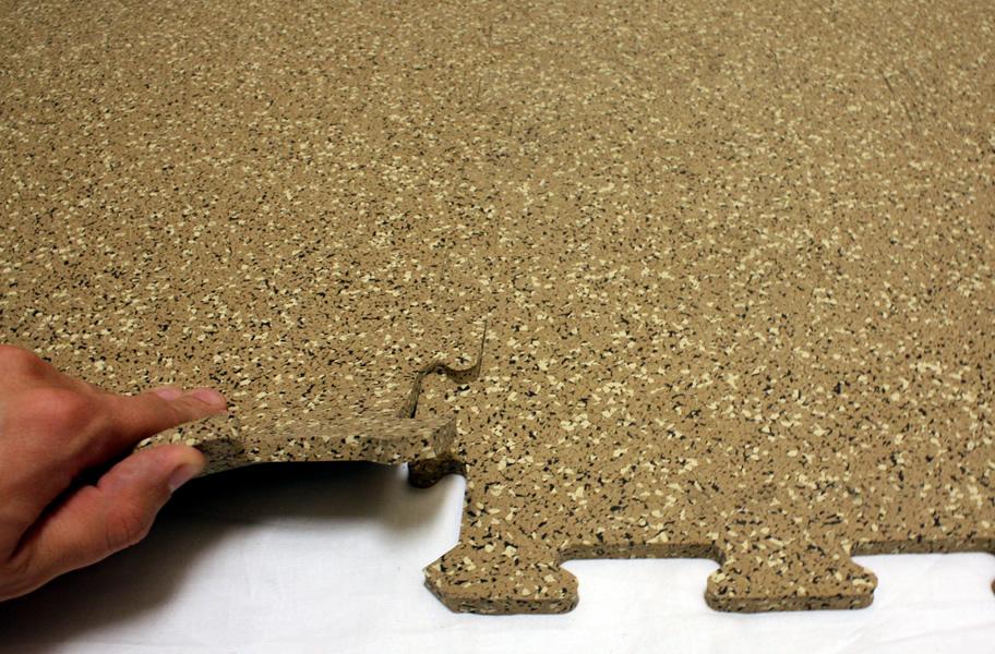 8mm Strong Rubber Tiles Designer Series Gym Flooring