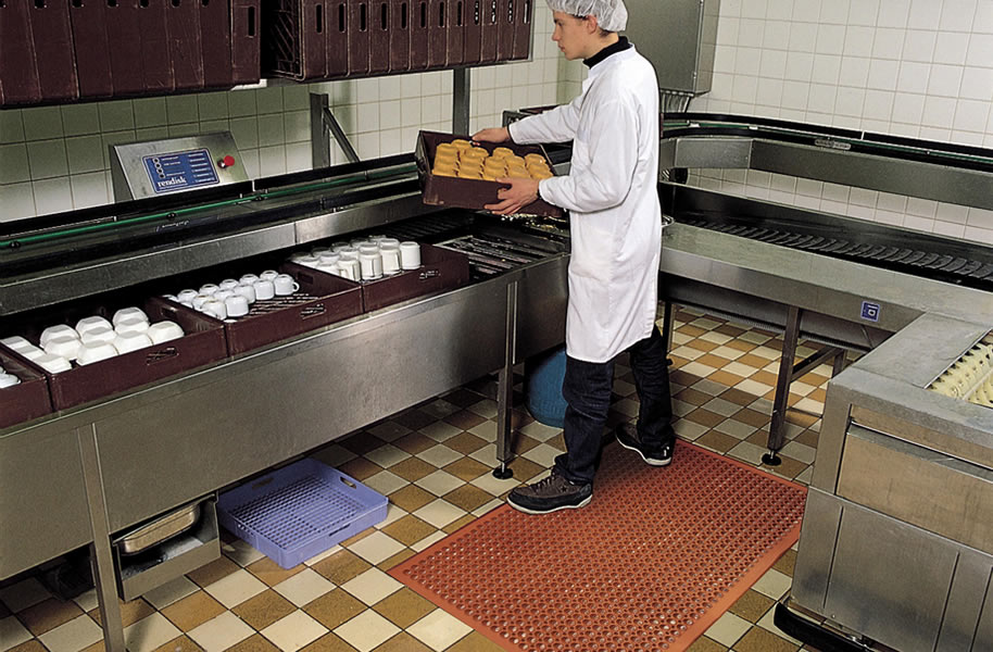 Notrax Sanitop Commercial Kitchen Mat - Drainage Mat