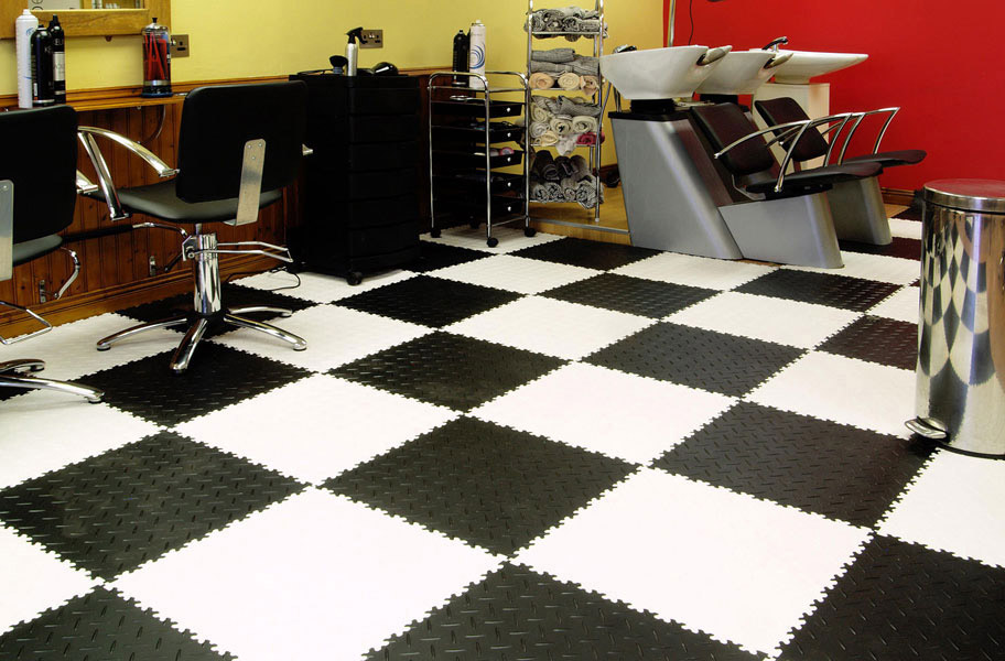 Pvc Garage Flooring : Diamond flex tiles pvc garage floor