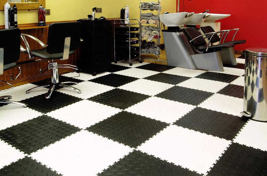 Diamond Flex Tiles PVC Garage Floor Tiles - Polyvinyl garage floor covering
