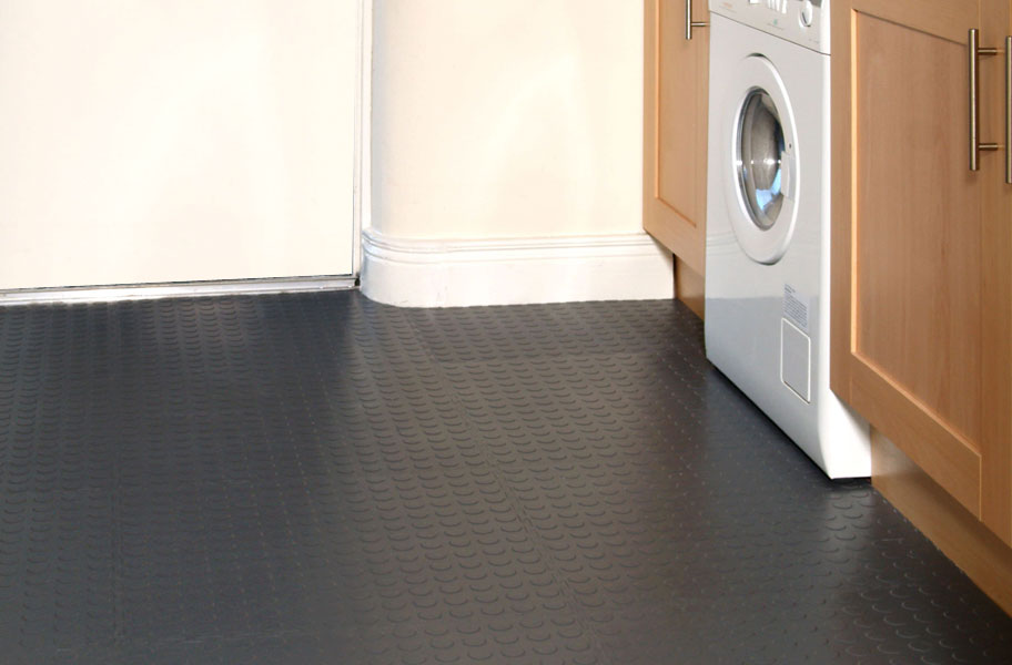 Coin Flex Tiles Modular Pvc Garage Floor Tiles