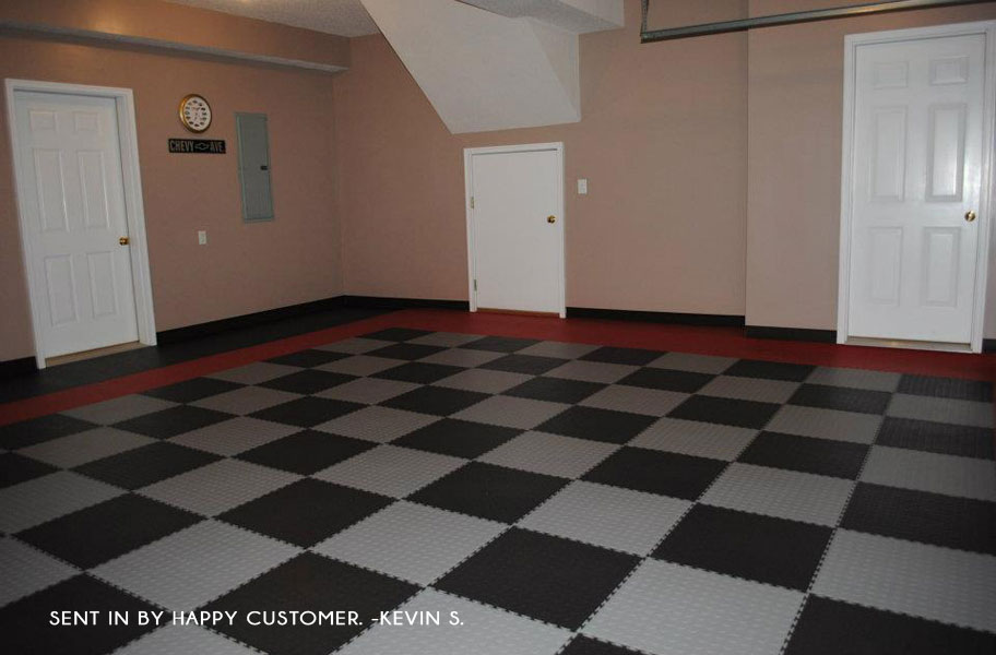 Pvc Garage Flooring : Coin flex tiles modular pvc garage floor