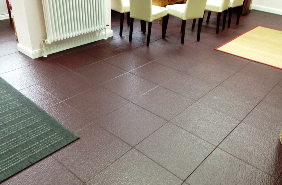 Slate Flex Tiles Interlocking Pvc Garage Flooring