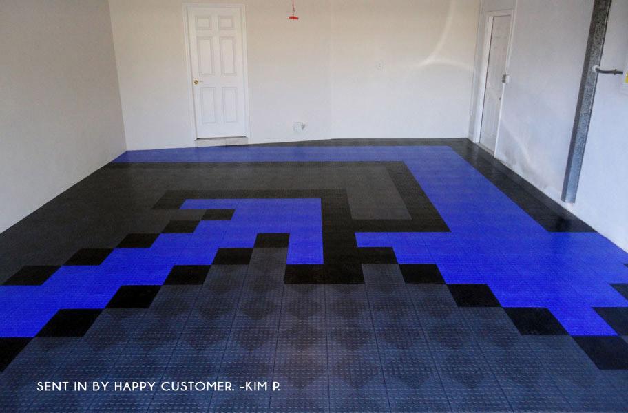 Coin GridLoc Tiles Designer Plastic Garage Floor Tile - Gridlock floor tiles