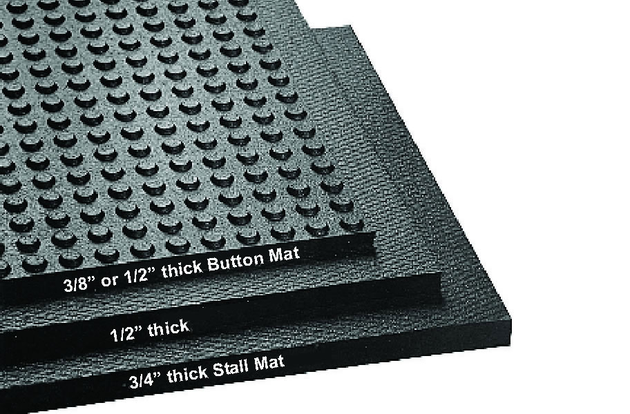 1 2 Inch Button Top Stall Kits Non Slip Horse Matting
