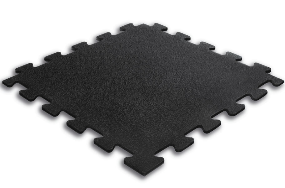 3 8 Inch Textured Virgin Rubber Tiles Upscale Gym Flooring