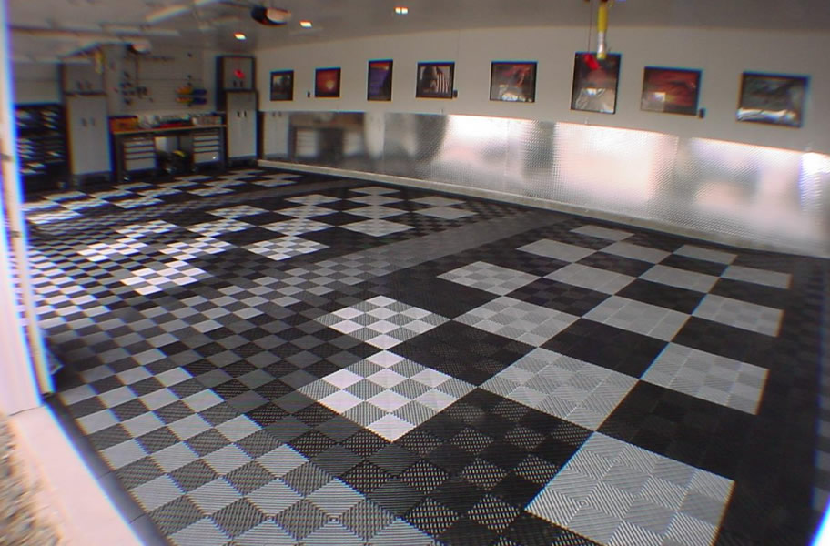 Vented Grid Loc Tiles Garage Floor