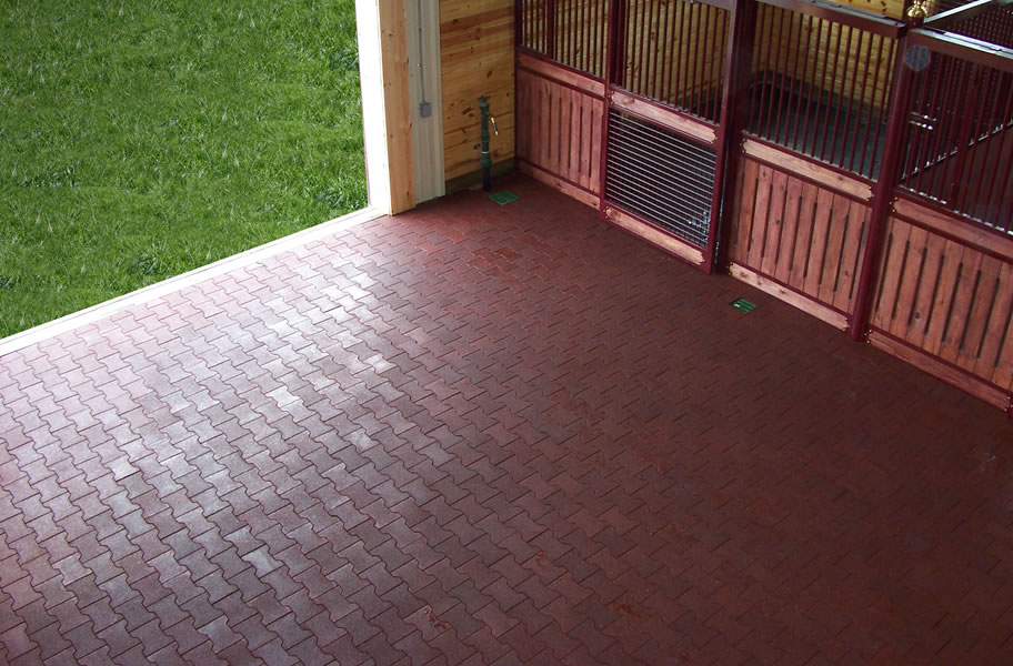 Rubber pavers recycled rubber tiles for outdoor use for Rubber flooring