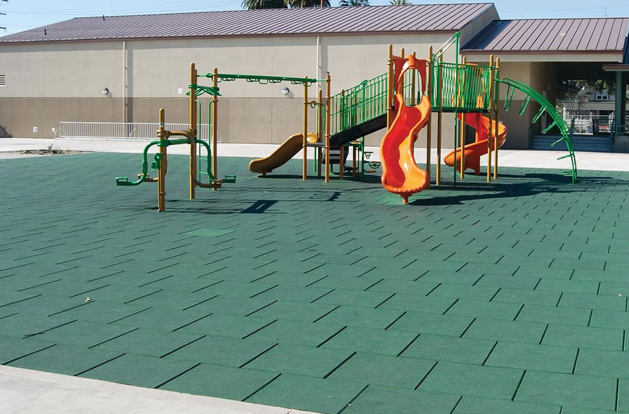 Safe play tiles rubber playground tiles for Cork playground flooring