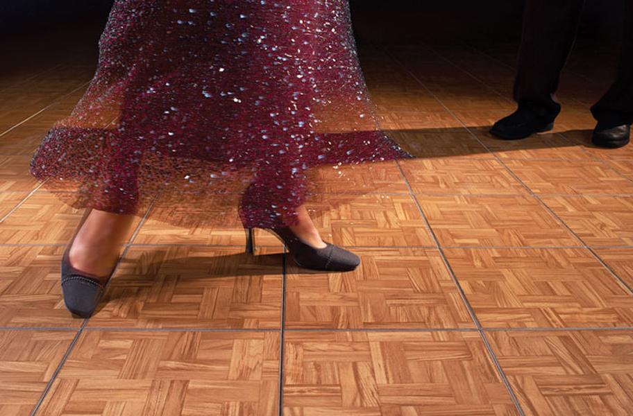 Modular GridLoc Tiles Interlocking Easy To Assemble Flooring - Snap lock dance floor for sale