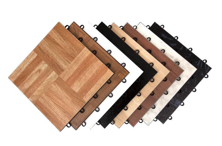 Modular Grid Loc Tiles Interlocking Easy To Assemble Flooring