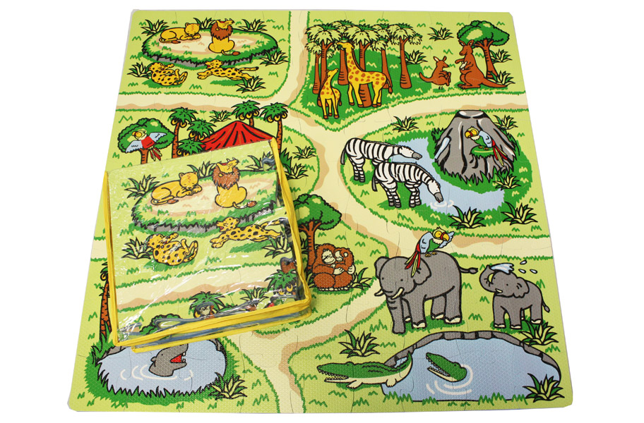 Zoo Play Mat Educational Kids Puzzle Matting
