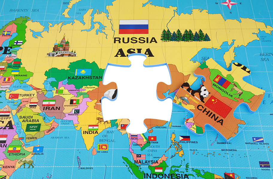 Foam World Map Kit Interlocking Puzzle Mat