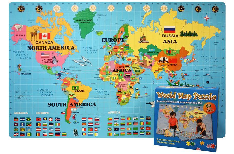 Puzzle carpet carpet vidalondon foam world map kit sciox Image collections