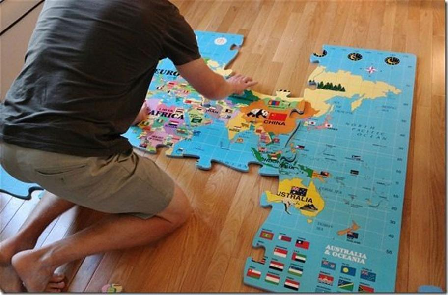 World map foam puzzle mat the time we put together a huge world world map puzzle mat for kids foam puzzle wall puzzles item specifics sciox Image collections