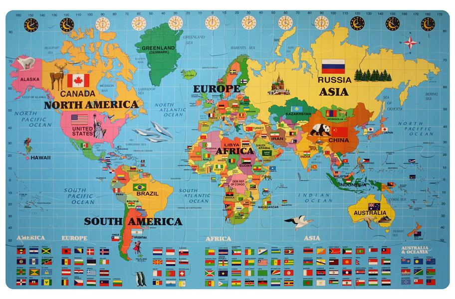 World Map Foam Puzzle Mat – Map World Puzzle