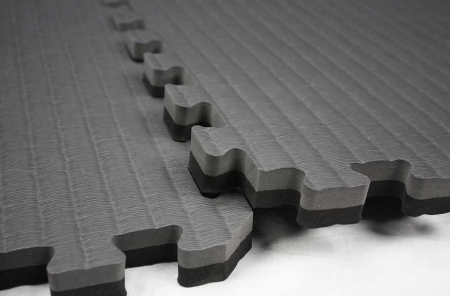 Tatami Tiles Interlocking Foam Tatami Mats - Black and white interlocking floor mats