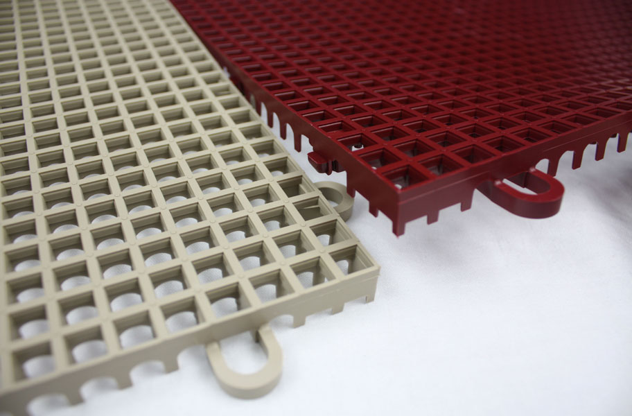 Smooth Grip-Loc Tiles - Drainage Plastic Deck Tiles