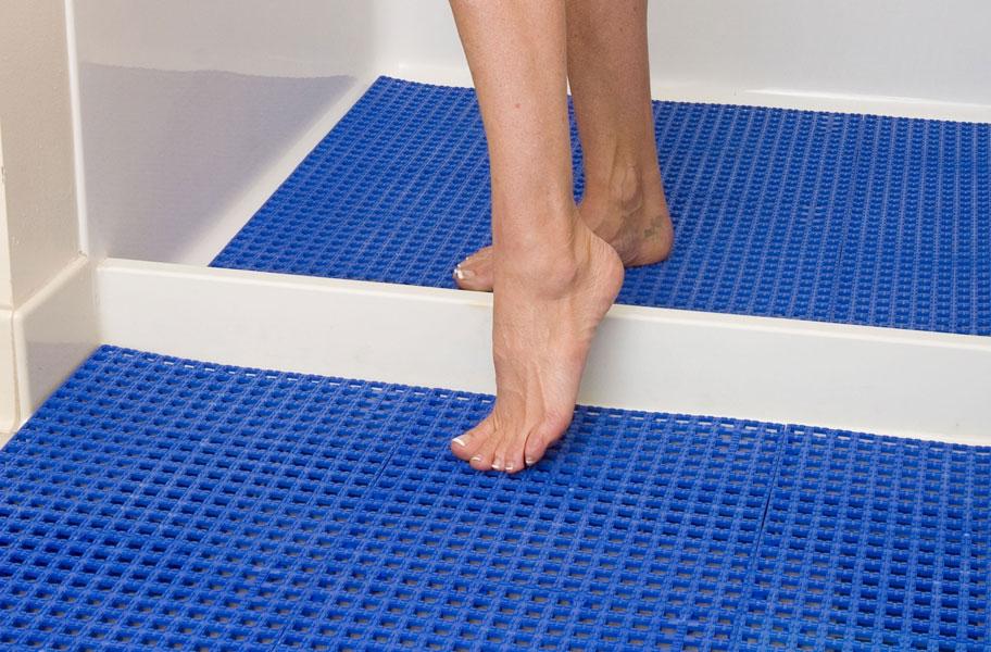 Designer Grip Loc Tiles Plastic Shower Floor Tiles