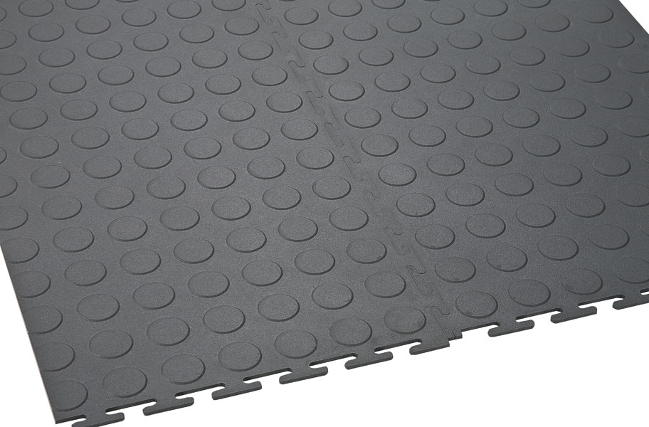 6 5 Mm Coin Flex Tiles Interlocking Pvc Garage Tiles