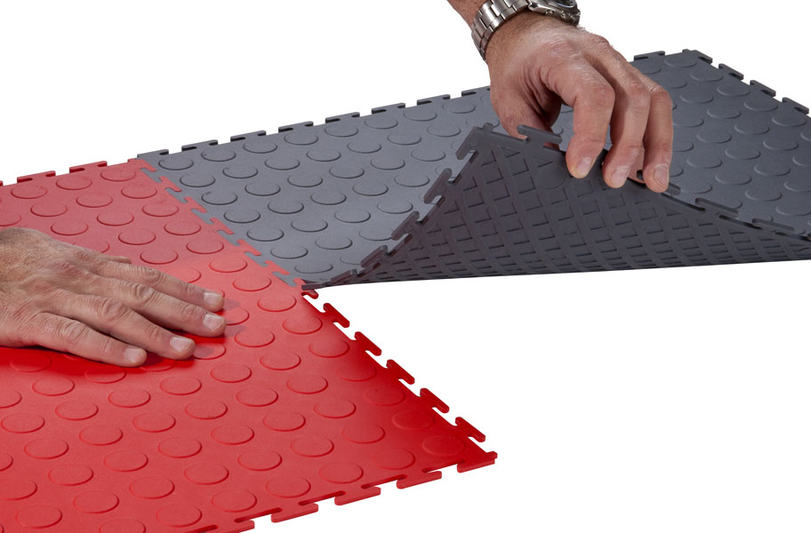 Pvc Garage Flooring : Mm coin flex tiles interlocking pvc garage
