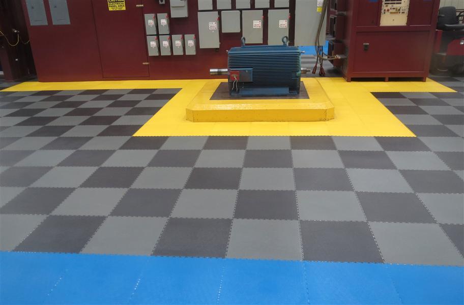 Mm Smooth Flex Tiles Premium PVC Floor Tiles - Gridlock floor tiles