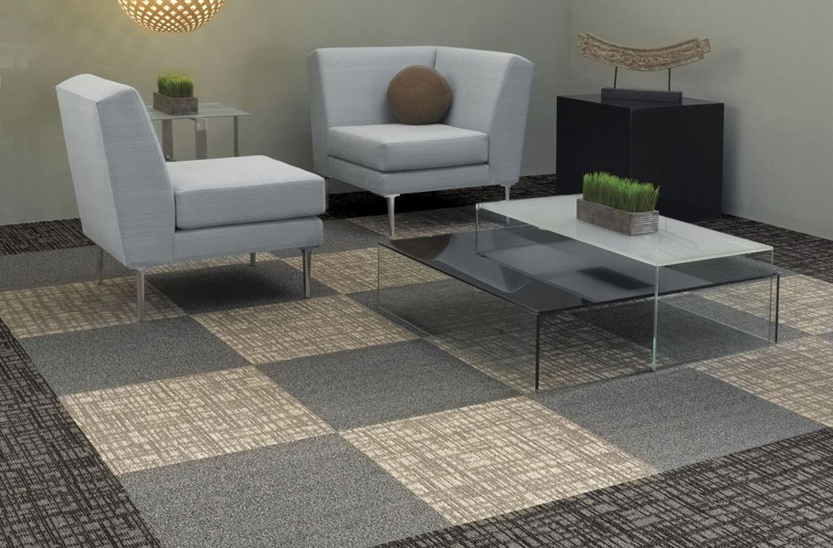 Shaw Mesh Weave Carpet Tiles - Commercial Modular Carpet Tiles